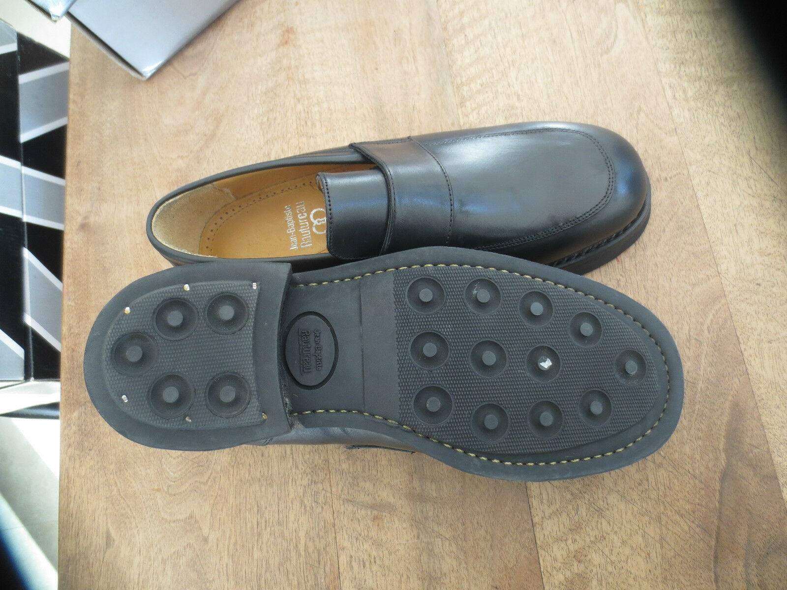 RAUTUREAU RAUTUREAU RAUTUREAU Duke loafer dakar nero NEUF Pointure Grand 39 | Il colore è molto evidente