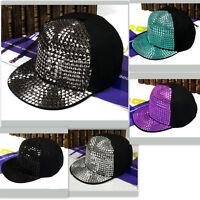 Fashion Hip-hop New Rivets Spike Spiky Studded Baseball Cap Punk Unisex Hat Rock