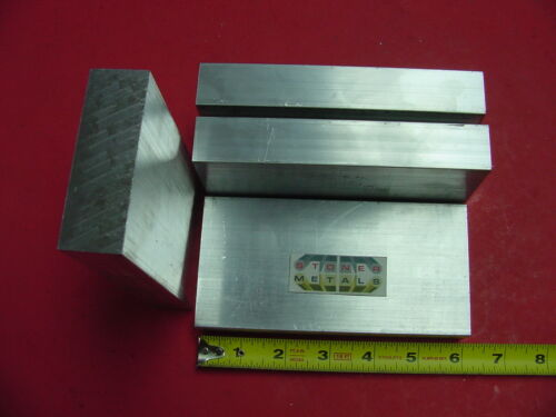 """2 Pieces 3//4/"""" X 6/"""" ALUMINUM 6061 Solid FLAT BAR 8/"""" long Solid Plate Mill Stock"""
