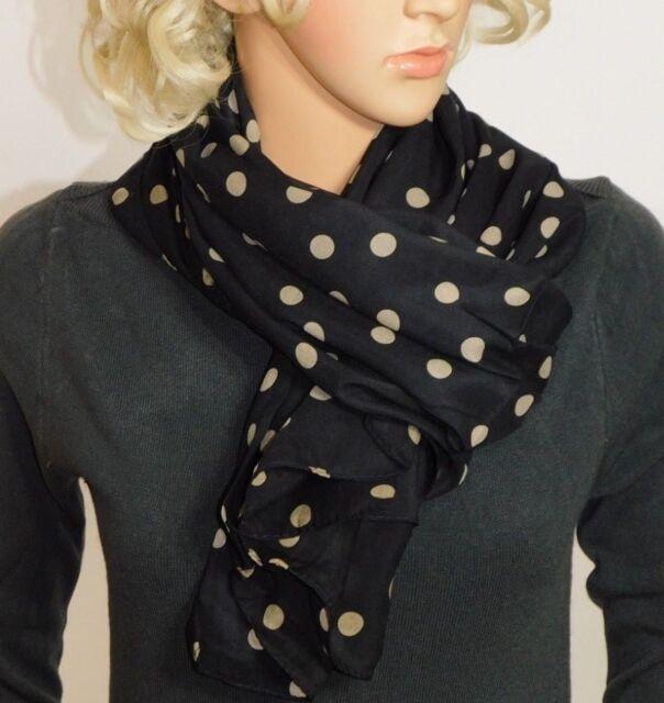 ed4f0cf15 Wear Freedom Black Scarf With Tan Polka Dot Scarves Shawl Stole Wrap ...