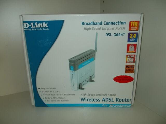 D-Link dsl-g664t SANS FIL ADSL Routeur, #so-34