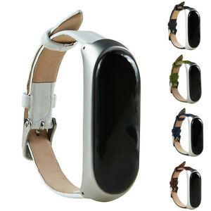Eg-fuer-mi-Band-3-Echtleder-Uhren-Armband-Armreifen-Ersatzarmband-Latstange