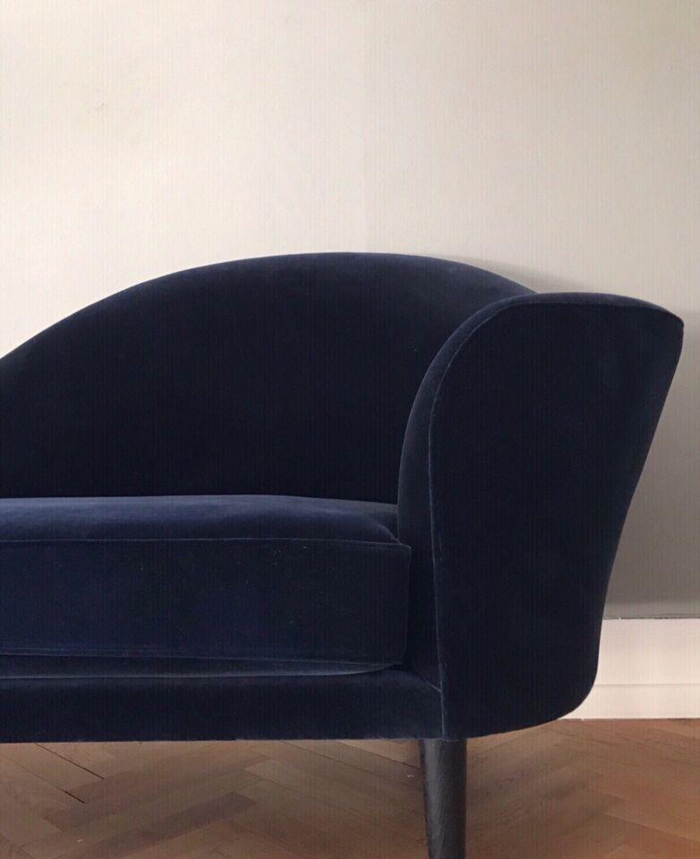 Sofa, velour, 3 pers.