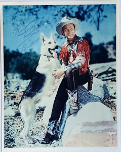 Signed ROY ROGERS & BULLET Autographed 8x10 Color Photo Actor & Singer