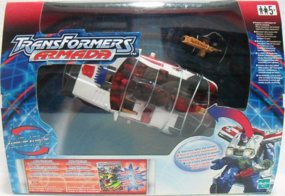 Robot Japan TRANSFORMERS ARMADA RED ALERT probably batteries exhausted HASBRO