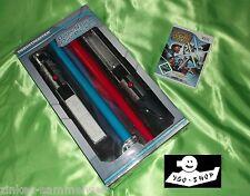 Wii Star Wars lichtschwertduelle + 2 luz espada en OVP azul rojo Thrustmaster