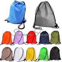 Useful Nylon Drawstring Cinch Sack Sport Beach Travel Outdoor Backpack Bag $