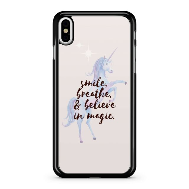 Smile Breathe And Believe In Magic Quote Unicorn Mikyway Stars Phone Case Cover Ebay