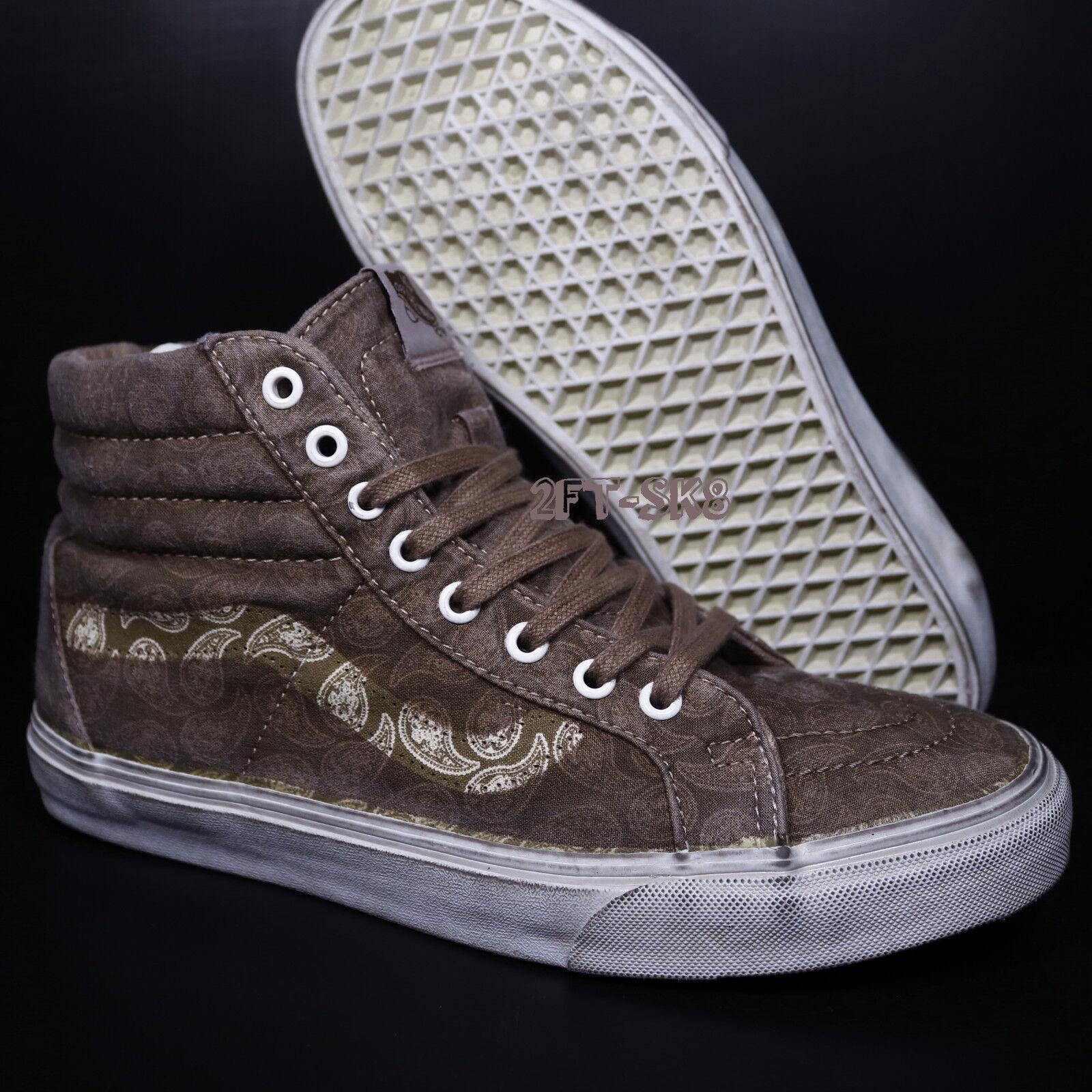 VANS SK8-HI OVERWASH PAISLEY TEAK Homme SKATE Chaussures/OLD SKOOL//S8912.256