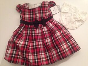 5f49a1a5b41a Carters Baby Girl Dress Fancy Wedding Holiday Size 18 months Black ...