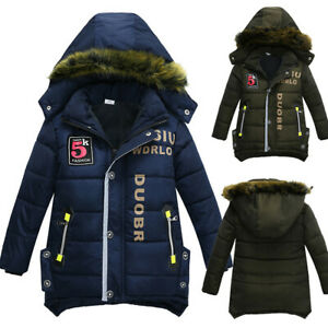 Children-Kids-Coat-Boys-Girls-Solid-Winter-Warm-Thick-Coat-Padded-Jacket-Clothes