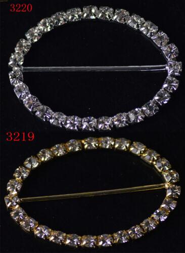 2pc 33.5x45mm Diamante Rhinestone Bikini Belt Buckle Ribbon Slider Wedding Decor