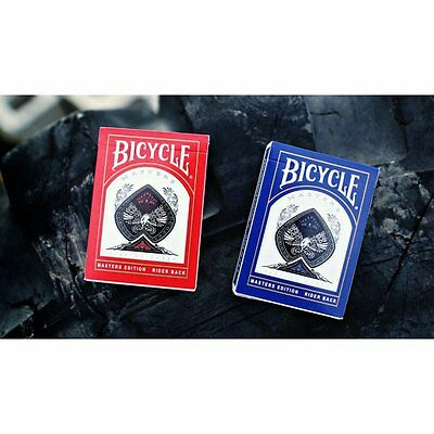 2 pack Blue & Red Masters deck Ellusionist Bicycle Playing Cards Magic Trick Ace