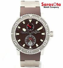 Ulysse Nardin Maxi Marine 263-33-3-95 Brown Dial Steel/Rubber Men's Watch