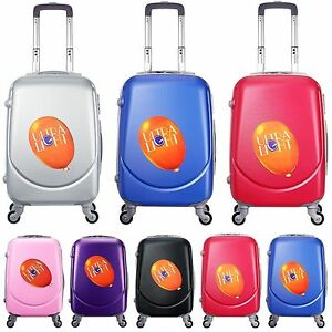 Cabin-Bag-Hard-Case-Carry-On-Travel-Hand-Luggage-Trolley-Suitcase-4-Wheels-HM201