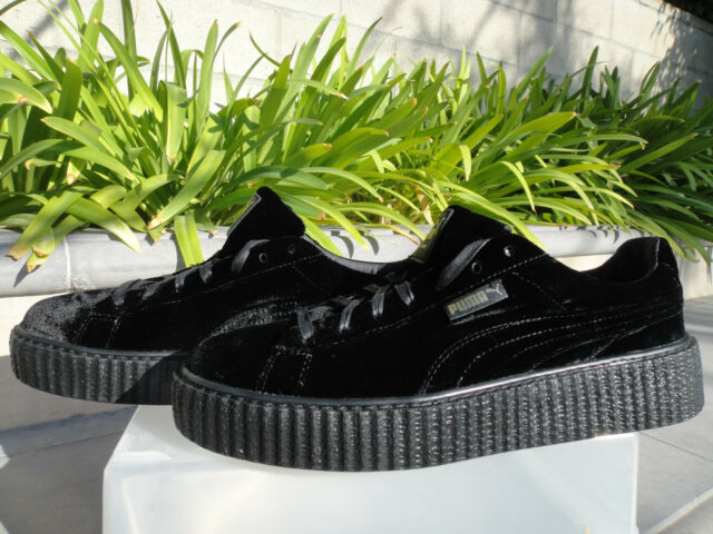 new concept fe863 d18fe PUMA Fenty by Rihanna Mens Black Creeper Velvet Size 11 Shoes 364639 01