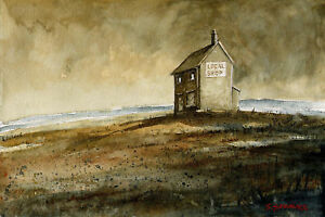 Local-Shop-POSTCARD-Steve-Greaves-Landscape-Painting-Watercolour-Comedy-Humour