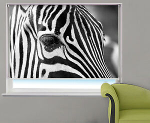Digital-Print-Photo-Roller-Blind-Zebra-Close-Up-Animal-Picture-Blackout-Blind
