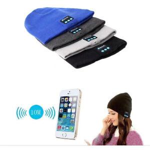 6 Colors Beanie Hat Wireless Bluetooth Smart Cap Headphone Headset Speaker Music