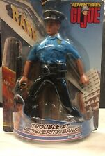 """G.I Joe  """"Trouble At Prosperity Bank"""" Police Officer pose-able action figure"""