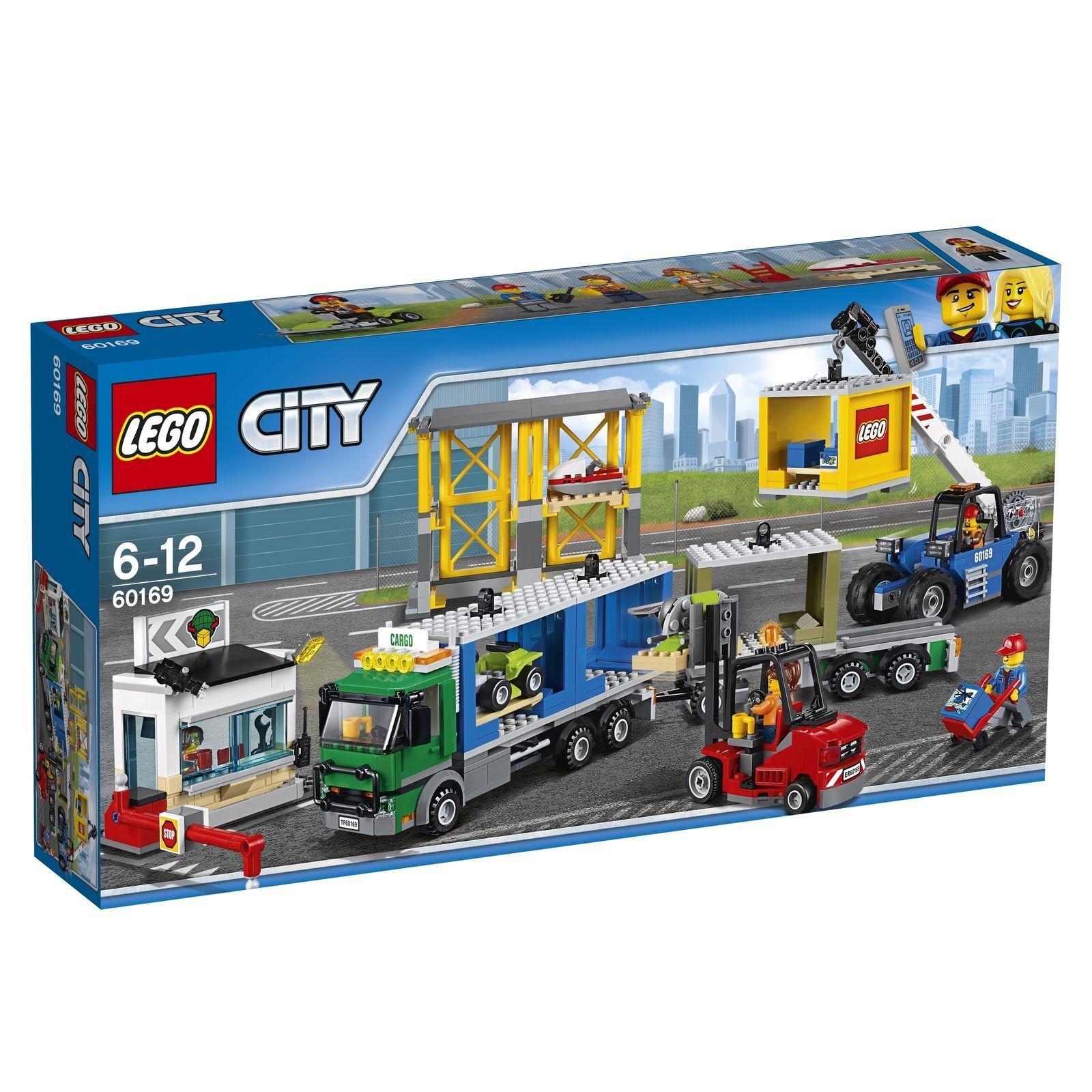 LEGO ® City 60169  FRET Terminal  GARE PORT camion conteneur Nouveau Neuf dans sa boîte New En parfait état, dans sa boîte scellée