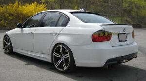 BMW-E90-Saloon-Rear-Boot-Lip-Spoiler-4-Door-Wing-M3-Style-2005-2012-Unpainted-bl