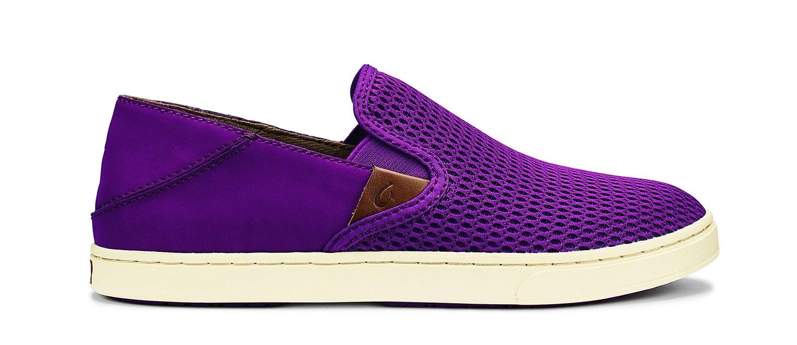 Olukai Wouomo Nalukai Leather scarpe Magenta Magenta 7 M US