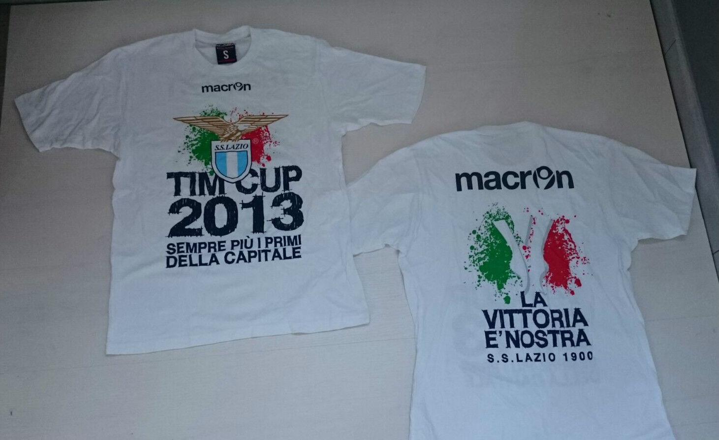 2508 LAZIO MACRON MAGLIA MAGLIETTA V COPPA ITALIA 2013 T-SHIRT TIM CUP  30