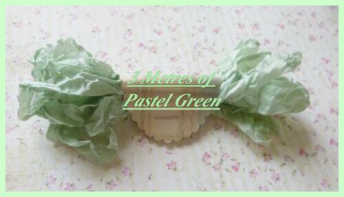 3 m de shabby chic couture Reliure-pastel green