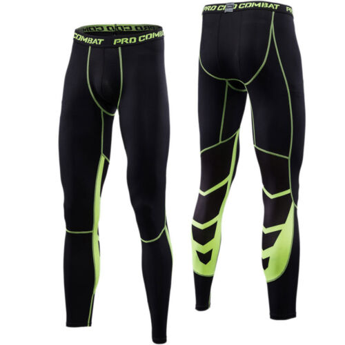 Mens Workout 3//4 Pants Apparel Compression Baselayer Shorts Gym Training Tights
