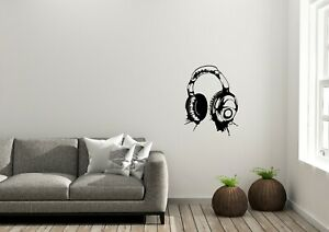 Banksy-Style-Headset-Home-Bedroom-Graffiti-Decor-Wall-Art-Decal-Vinyl-Sticker