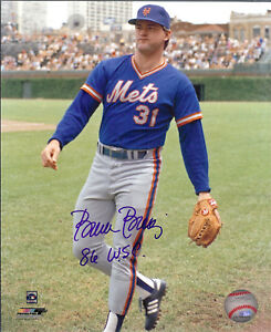 1986 NY Mets Pitcher Bruce Berenyi  autographed  8x10  photo 86 WSC added