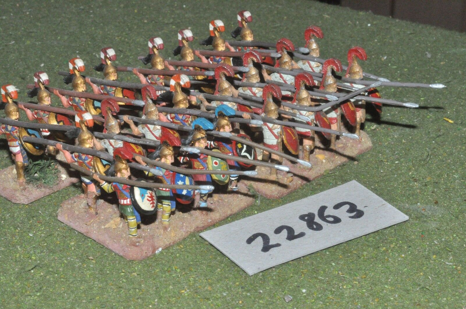 25mm classical   greek - hoplites 24 figures - inf (22863)