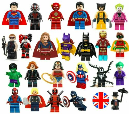 SUPER HEROES MINIFIGURE Custom LEGO SUPEREROI Singolo Mini Figure MINIFIGS