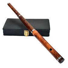 "Irish Professional D Flute with Hard Case 23"" Length 3 Pcs Natural Finish"