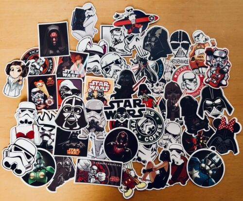 50 Pegatinas De Star Wars Yoda Storm Trooper Para Teléfono Portátil Patineta adhesivas