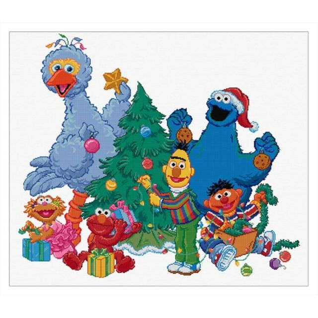 THEA GOUVERNEUR  763A  SESAME STREET  ICE SKATING  COUNTED  CROSS STITCH KIT