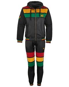 new arrivals affordable price newest collection Details zu Herren Rasta Trainingsanzug Fleece Jacke mit Kapuze 2 Teile Satz  Elastisch Unten