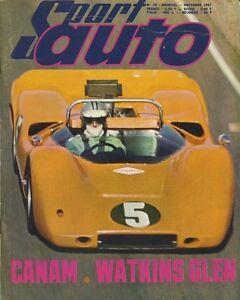 SPORT-AUTO-n-70-10-1967-CANAM-GP-USA-CORVETTE-427-1000km-PARIS-avec-encart