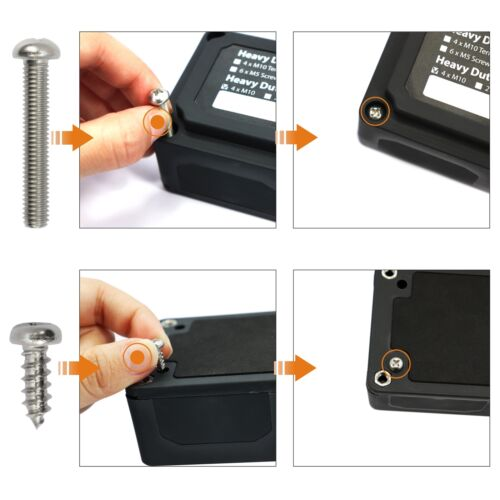 Heavy Duty 12 Way Dual Bus Bar//Power Distribution Box Screw Terminal Studs Block