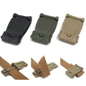 Details about Tactical Backpack MOLLE Webbing Connection Clip Buckle  Military Bag Strap Clamp