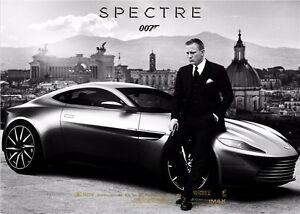 "Spectre 007 Spy Shooting Movie 13/""x13/"" Poster 030 James Bond 24"