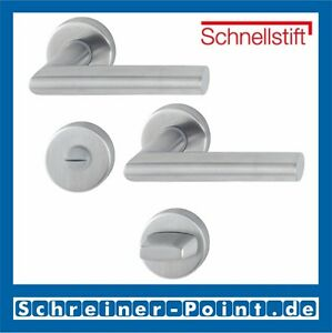 Zimmertüren-Rosetten-Garnitur//-Klinke mit Rosetten von Hoppe Aluminium F1