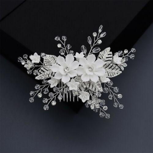 Pearls Hair Clips Wedding Hair Accessories Crystal Rhinestones Bridal Hair Comb