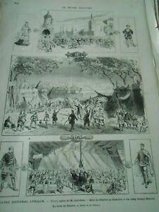 Gravure 1876 - Théatre Lyrique Dimitri Mort Au Kremlin Le Camp La Tente Finement Traité