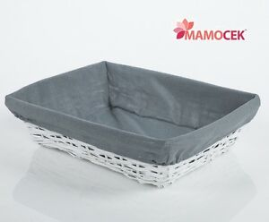 CESTINO-VIMINI-VASCHETTA-45x34-contenitore-armadio-Shabby-grigio-fodera-bianca