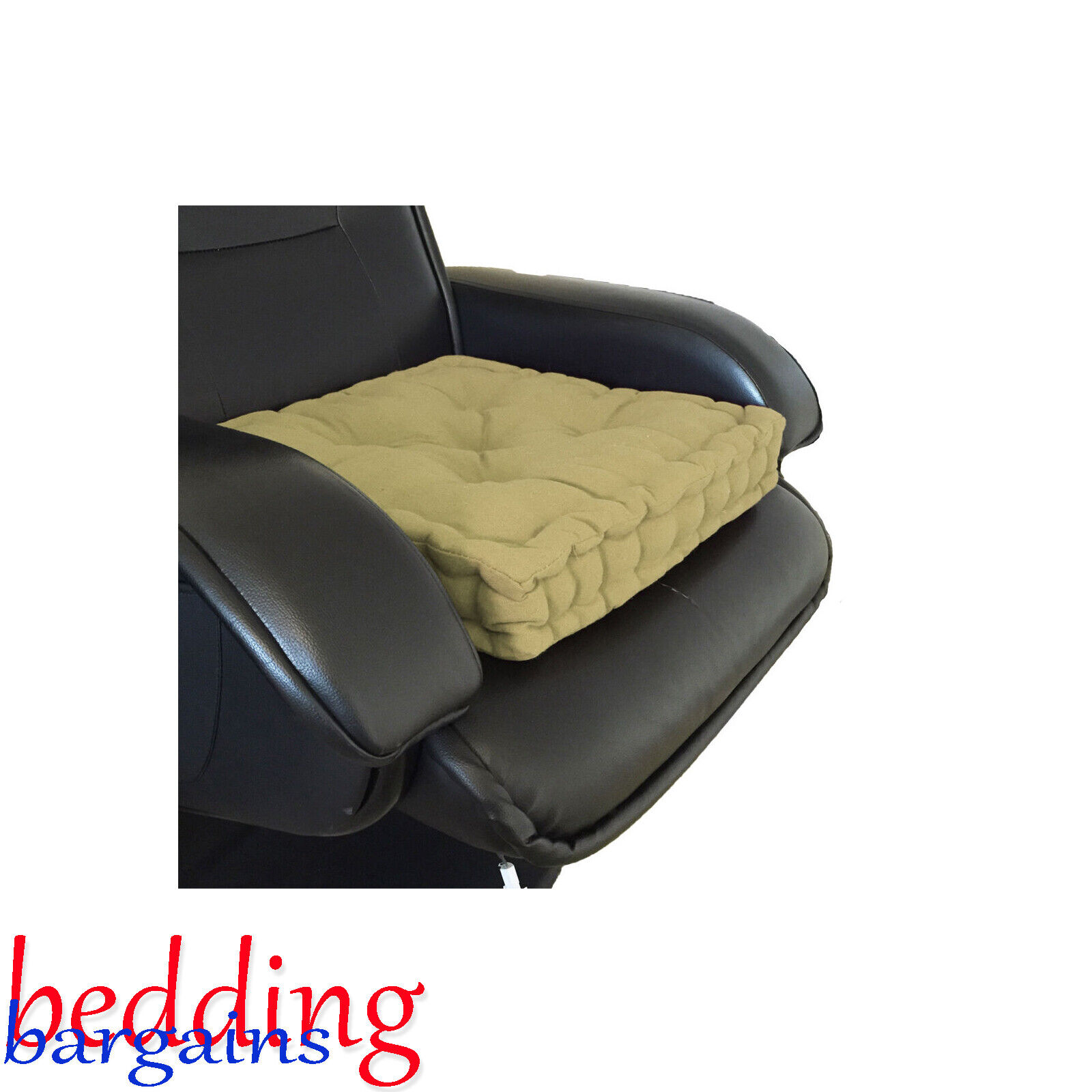 Sf Manchester SFM NEW ADULT CHUNKY BOOSTER CUSHION 100/% COTTON CHAIR SEAT PAD FOR SOFA GARDEN Comfortable Home Office Cushions Uk Stock Blue