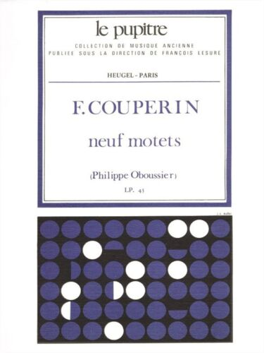 Couperin F 9 Motets Partition lp45 Learn to Sing Voice SHEET MUSIC BOOK