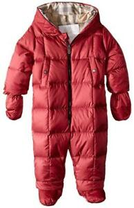 0d62a651f NEW  350 BURBERRY Baby Girl SKYLAR Down Hooded Puffer SNOWSUIT