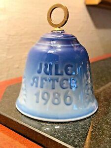 Jule-After-1986-Annual-Christmas-Bell-BING-amp-GRONDAHL-Royal-Copenhagen-9286